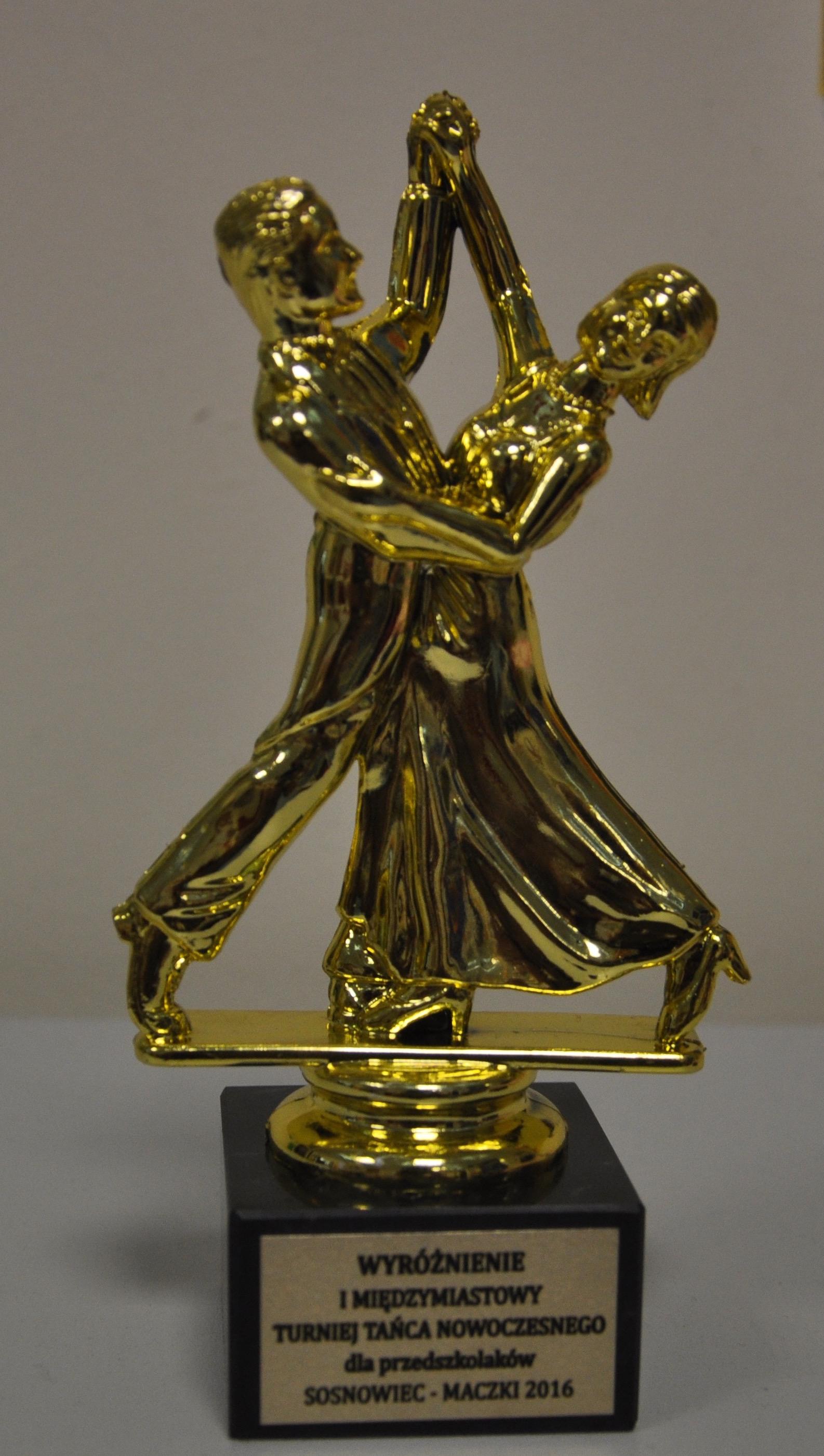 Wyróżnienie za udział w Turnieju Tańca Nowoczesnego
